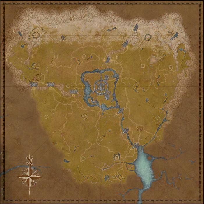 Map of Cyrodiil in The Elder Scrolls Oblivion images